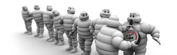 Advice from The Michelin Man on tyre pressure checks